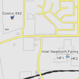 Intel Campus Map.Intel Hawthorn Farms Campus Hillsboro